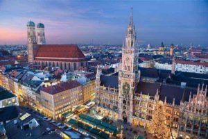 Blick auf München Rathaus